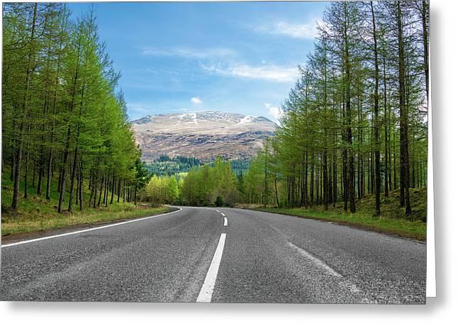 Pretty Road Greeting Card