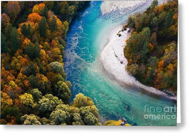 Pristine Alpine Turquoise River Greeting Card