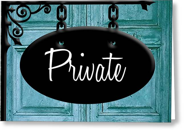Private Greeting Card