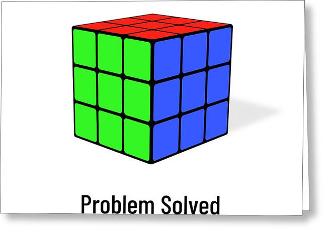 Problem Solved Greeting Card