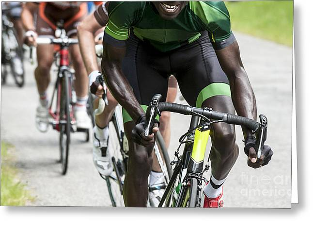 Professional Cycling Race Greeting Card