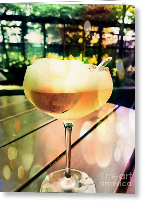 Greeting Card featuring the photograph Prosecco Float by Rachel Maynard