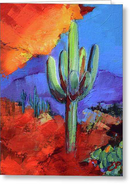 Under The Sonoran Sky By Elise Palmigiani Greeting Card