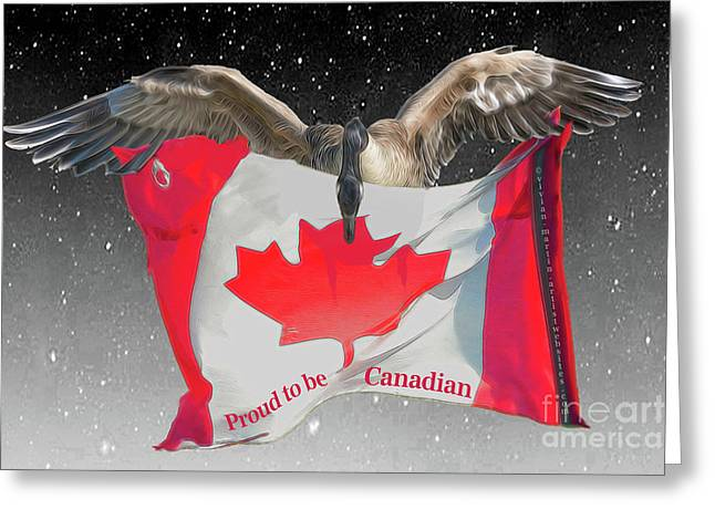 Proud To Be Canadian Greeting Card