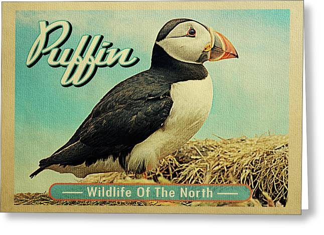 Puffin Bird - Wildlife Of The North Greeting Card