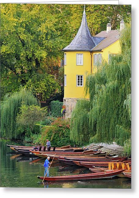 Punts In Lovely Tuebingen Germany Greeting Card