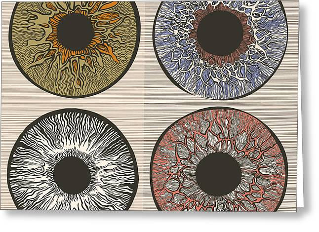 Pupil Variations. Macro Human Eye Greeting Card