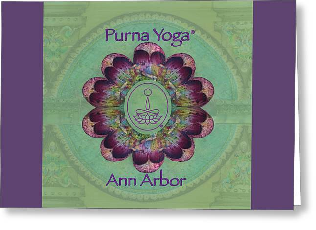 Purna Yoga Ann Arbor Greeting Card