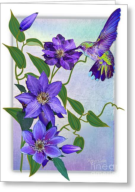 Purple Attraction Greeting Card