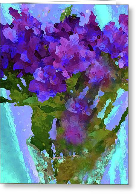 Purple Flowers Of The C Collection Greeting Card