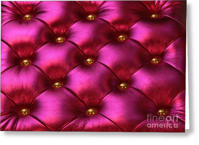 Purple Luxurious Chair Background With Greeting Card