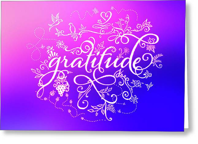 Purply Pink Gratitude Greeting Card