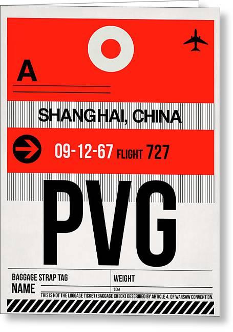 Pvg Shanghai Luggage Tag I Greeting Card
