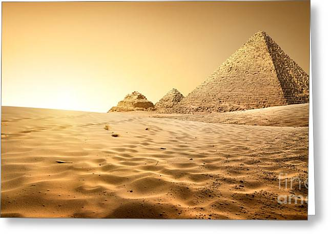 Pyramids In Sand Greeting Card