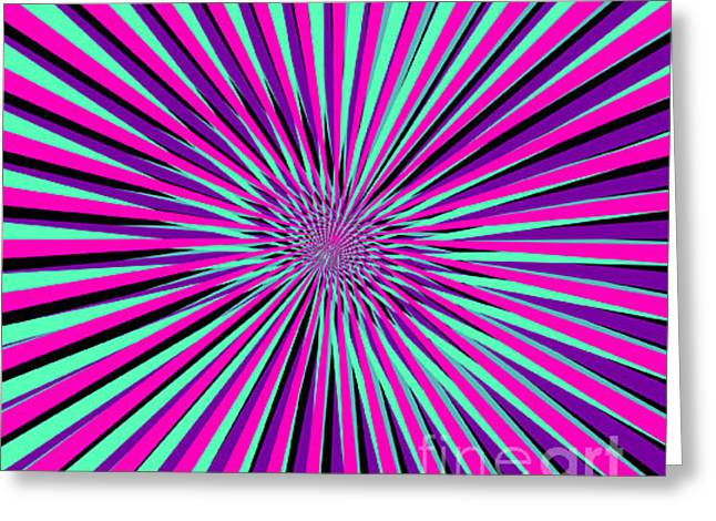 Pyschedelic Pink & Purple Art Greeting Card
