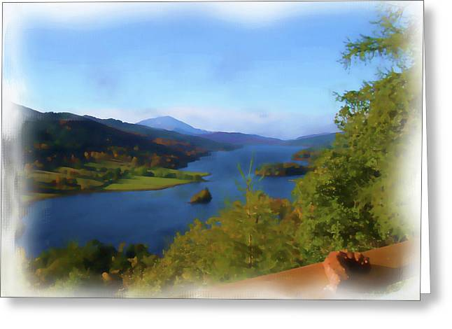Queens View Painting Greeting Card