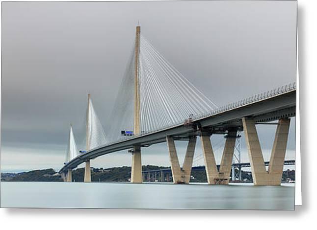 Greeting Card featuring the photograph Queensferry Crossing Bridge 3-1 by Grant Glendinning