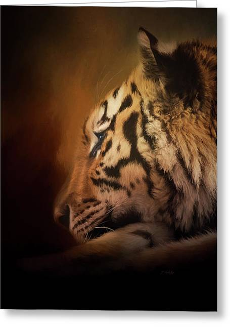 Greeting Card featuring the painting Quiet Time - Wildlife Art by Jordan Blackstone