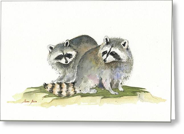 Raccoon Friendship Greeting Card
