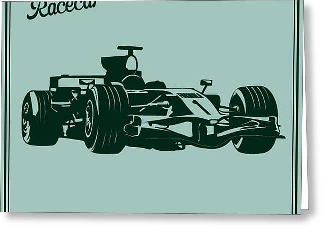 Race Car Greeting Card