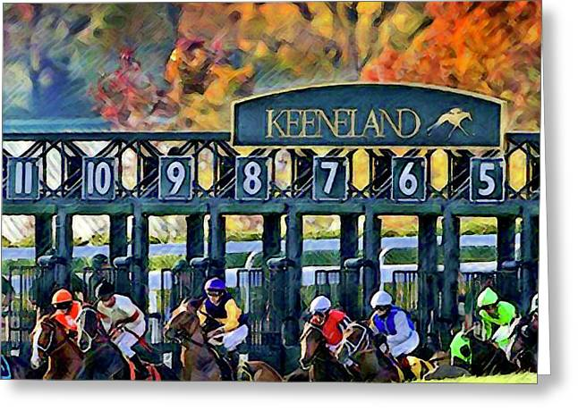 Fall Racing At Keeneland  Greeting Card