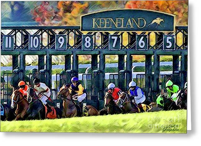 Fall Racing At Keeneland  Greeting Card