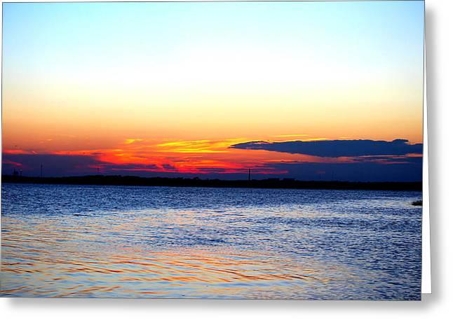 Radiant Sunset Greeting Card