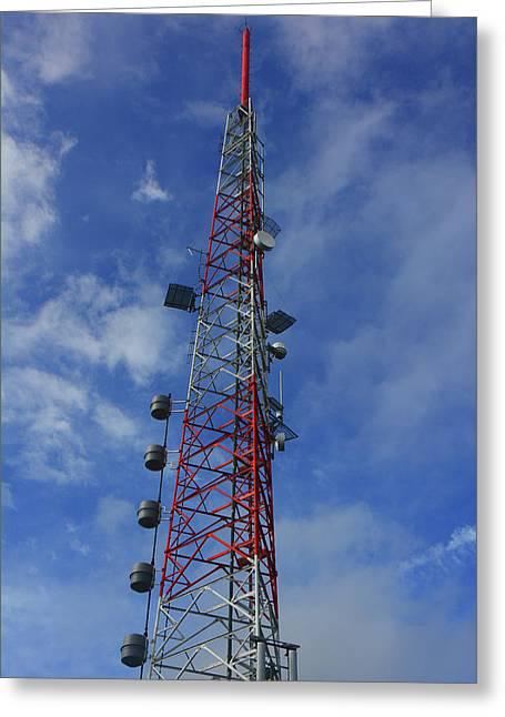 Greeting Card featuring the photograph Radio Tower On Mount Greylock by Raymond Salani III
