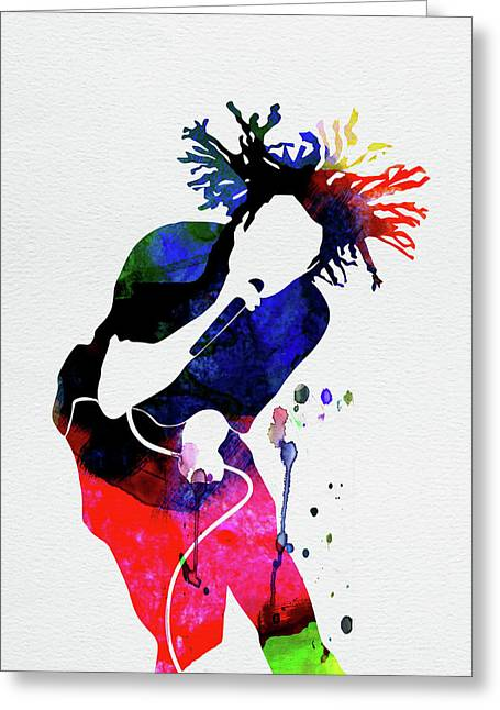 Rage Against The Machine Watercolor Greeting Card