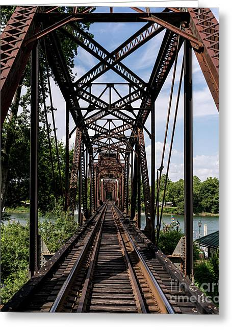 Railroad Bridge 6th Street Augusta Ga 1 Greeting Card