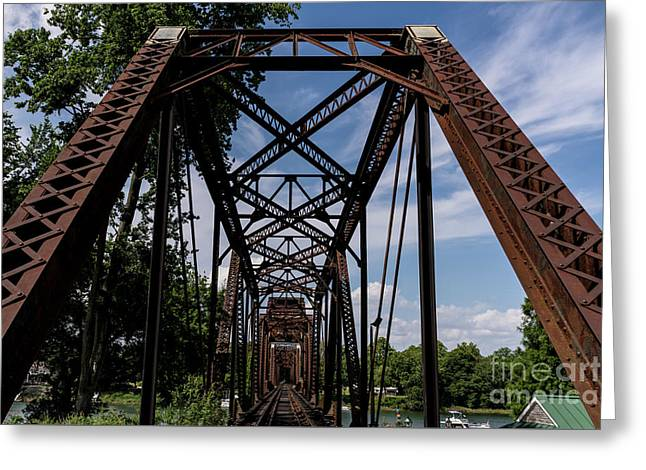 Railroad Bridge 6th Street Augusta Ga 2 Greeting Card
