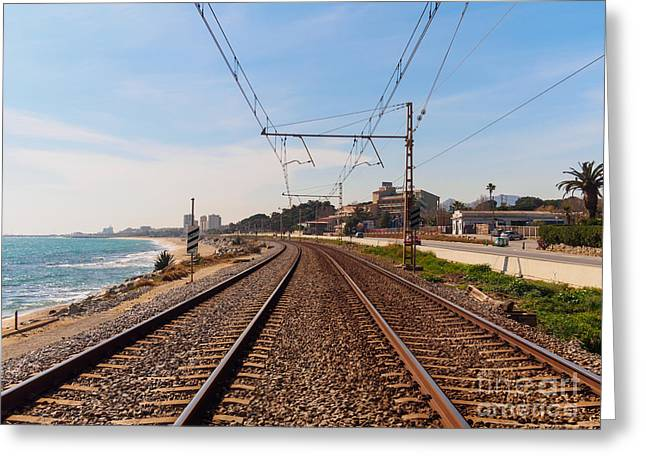 Railway To The Coast Of The Greeting Card