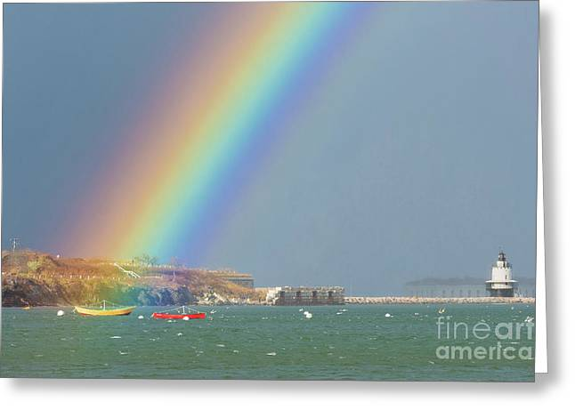 Rainbow At Spring Point Ledge Greeting Card