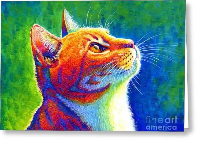 Rainbow Cat Portrait Greeting Card