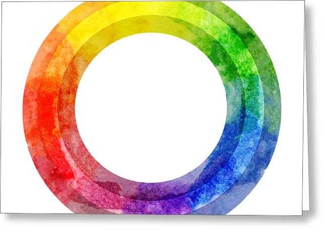 Rainbow Color Wheel Greeting Card