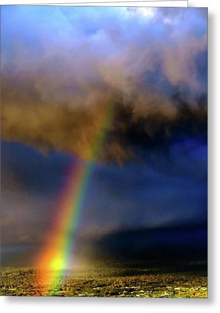 Rainbow During Sunset Greeting Card