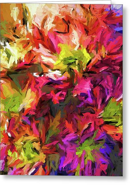 Rainbow Flower Rhapsody In Pink And Purple Greeting Card