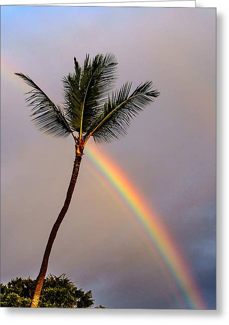 Rainbow Just Before Sunset Greeting Card