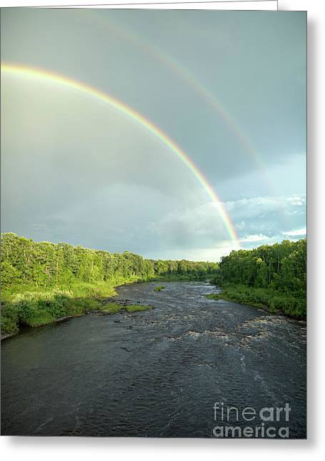 Rainbow Over The Littlefork River Greeting Card