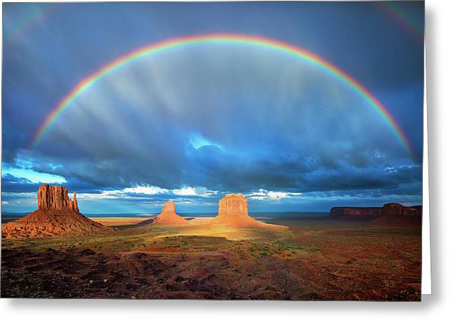 Rainbow Over The Mittens Afternoon Greeting Card