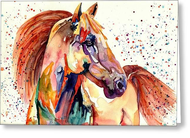 Rainy Horse Greeting Card
