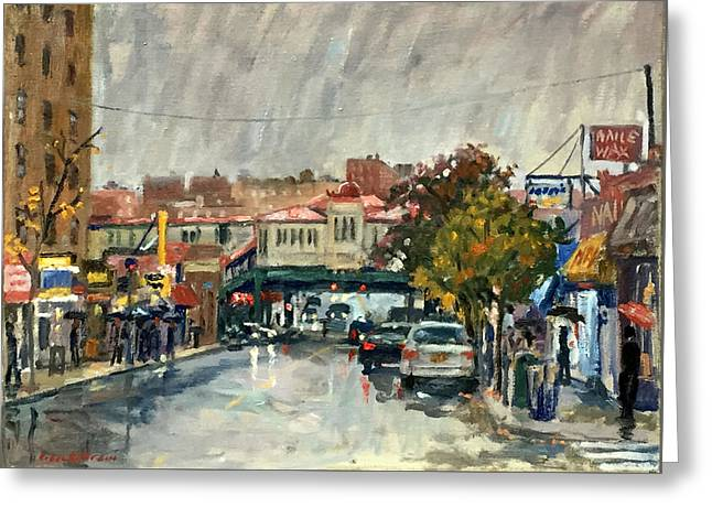 Rainy Morning 231st Street The Bronx Greeting Card