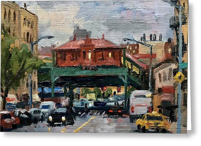 Rainy Morning 238th Street The Bronx Greeting Card