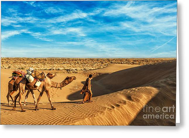 Rajasthan Travel Background - India Greeting Card