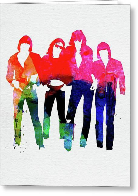 Ramones Watercolor Greeting Card