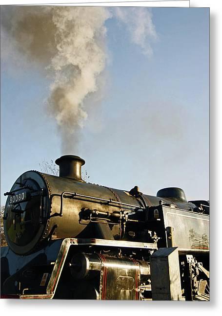 Ramsbottom. East Lancashire Railway. Locomotive 80080. Greeting Card