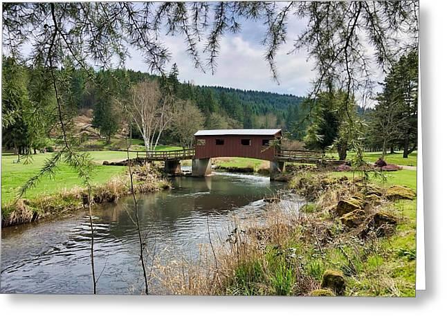 Ranch Hills Covered Bridge Greeting Card