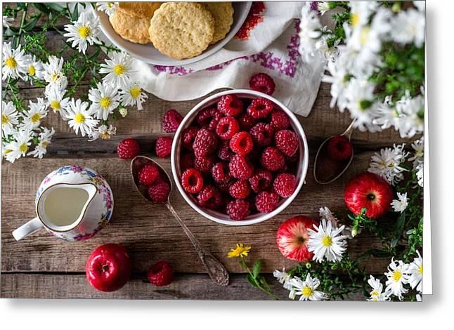 Raspberry Breakfast Greeting Card