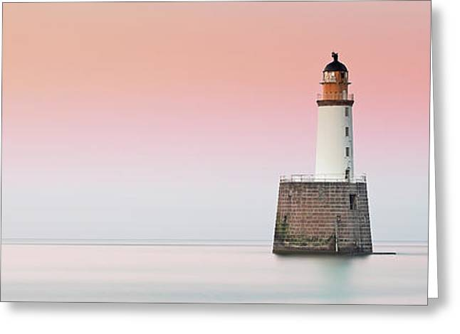 Greeting Card featuring the photograph Rattray Lighthouse Sunset- Scotland by Grant Glendinning