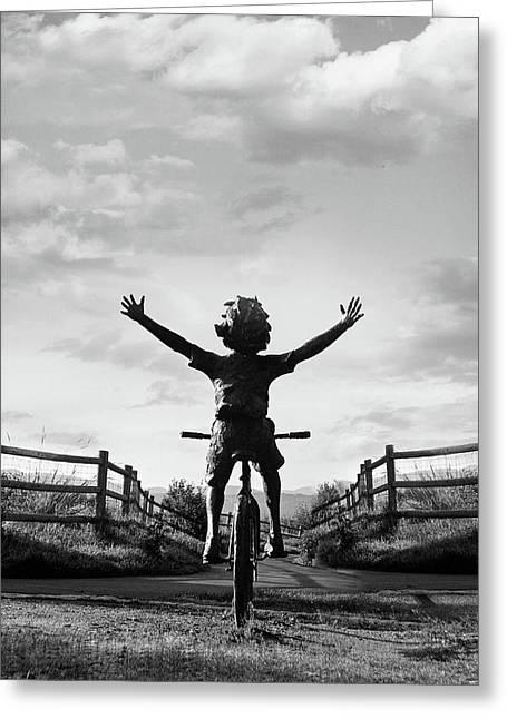 Reach High Greeting Card by Dana Klein